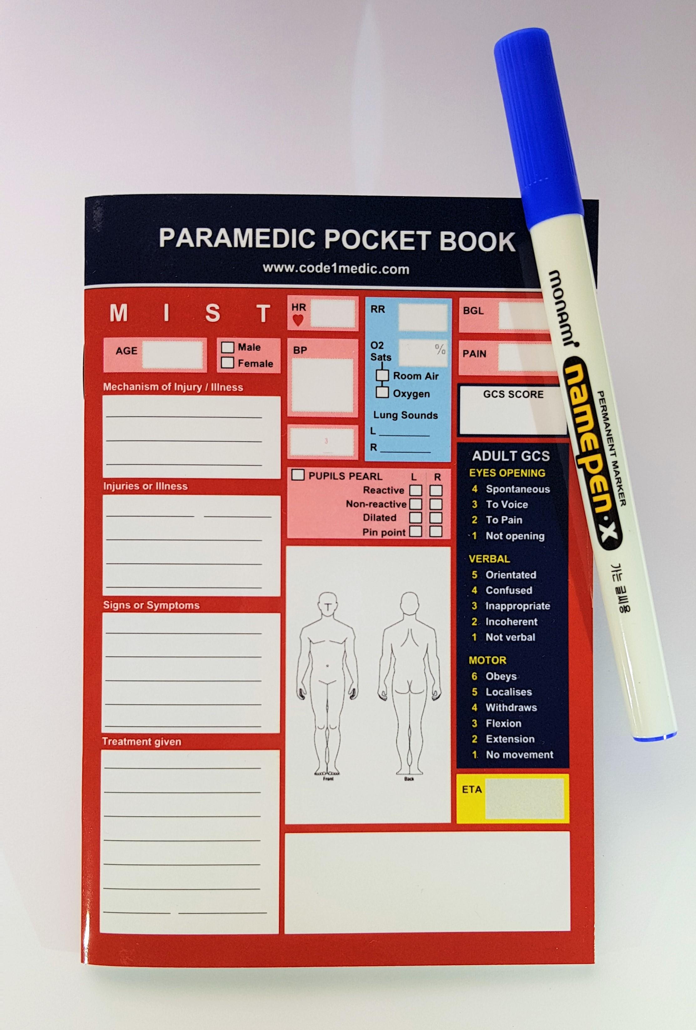 The Australian Paramedic Pocket Book 2018 | Code 1 Medic